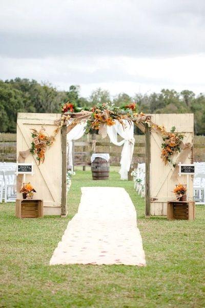 624 best garden wedding decoration ideas images on pinterest rustic outdoor wedding entrance decoration ideas with old door workwithnaturefo