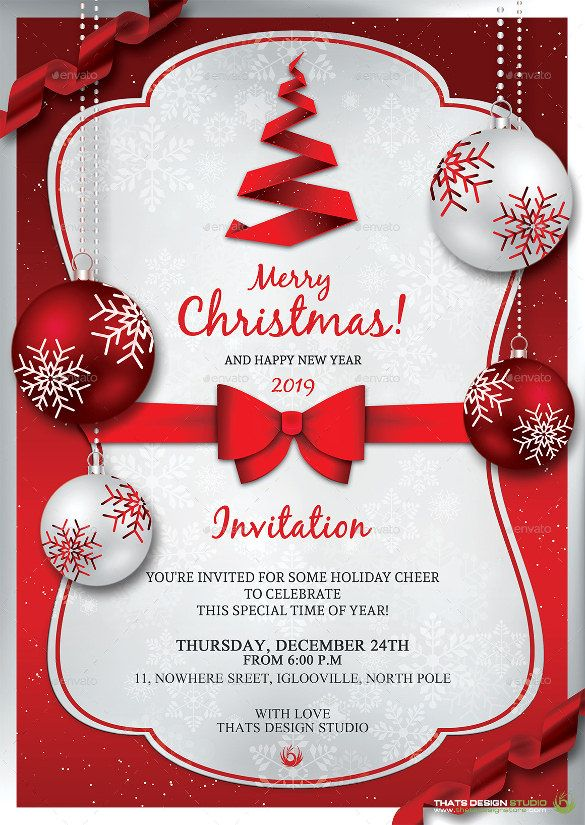 32 Christmas Invitation Templates Psd Ai Word Free Christmas Invitation Templates Christmas Party Invitation Template Christmas Invitations Template