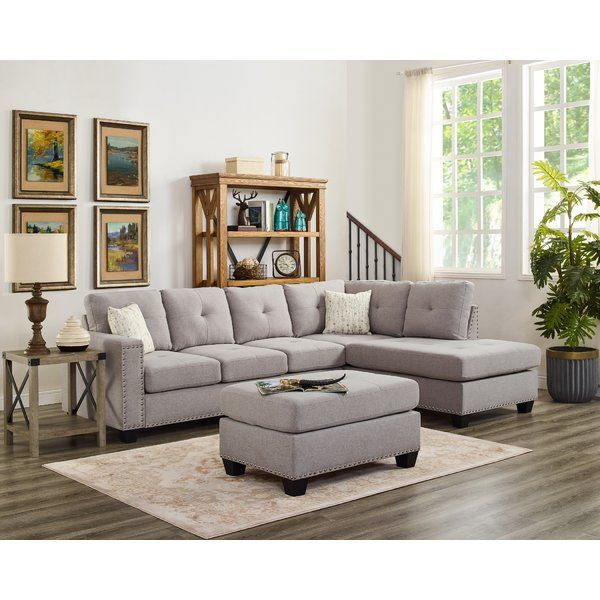 Everleigh 105 Reversible Sectional With Ottoman Fabric