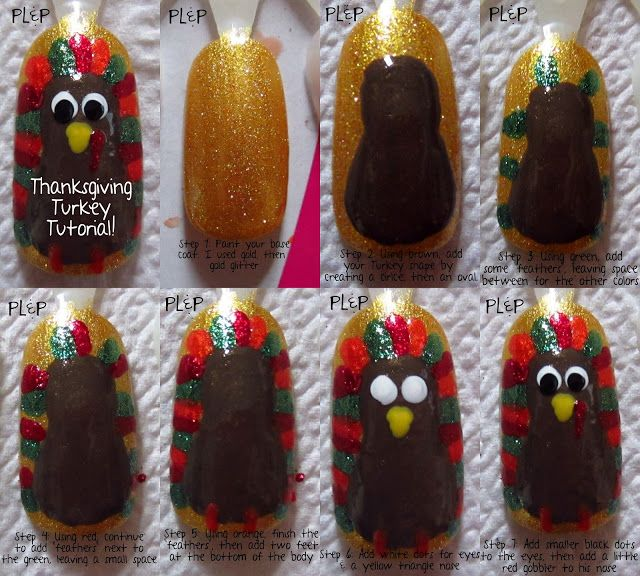 Peace, Love and Polish: Thanksgiving Turkey Nail Art & Tutorial!