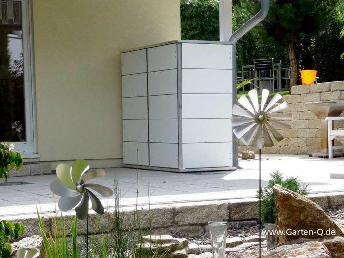 Moderner Gartenschrank Wetterfest Mit Hpl Turen Und Metallrahmen Grundkonstruktion Niemals Streichen Mit 10 Jahren Gartenschrank Gartengerateschrank Garten