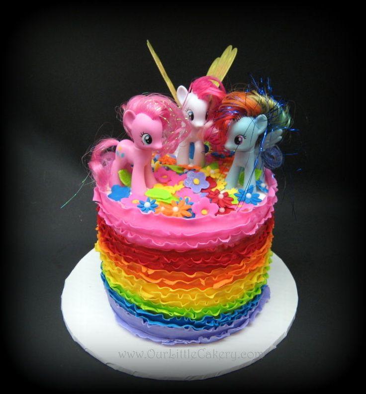 My Little Pony Rainbow Cake by gizangel