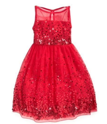 girls red sequins illusion dress valentine holiday dance party pageant size 7 rubyrox dressyeverydayholidaypageantwedding