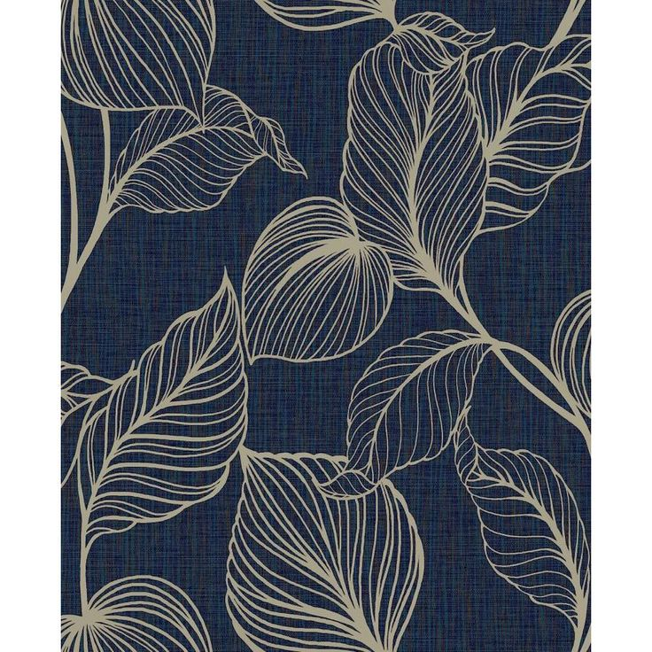 Boutique Jewel 56 Sq Ft Sapphire Vinyl Textured Floral Unpasted Wallpaper Lowes Com Blue And Gold Wallpaper Wallpaper Wallpaper Samples