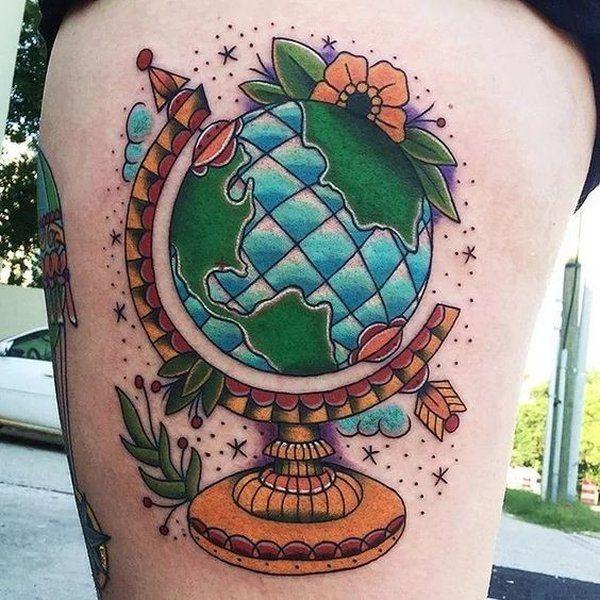 Plus de 25 id es uniques dans la cat gorie tatouage aisselle sur pinterest tattoos for women - Tatouage globe terrestre ...