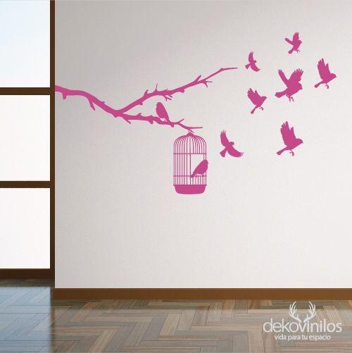 vinilo escape de aves ambienta tu entorno con este gran diseo decoracion