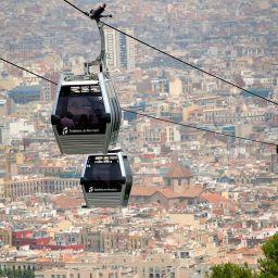 De kabelbaan naar Montjuïc