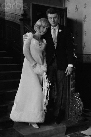Sylvie Vartan was married in April of 1965, but wearing a long sleeved dress and a beautiful hood, her attire would have been perfect for a Winter Wedding