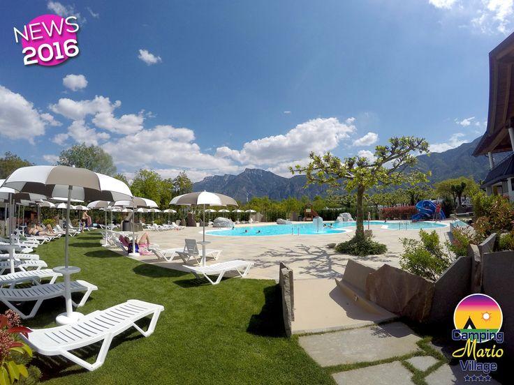 Campeggio 4 stelle con piscina riscaldata sul lago di caldonazzo in Trentino