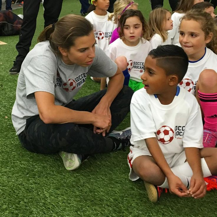 Tobin Heaths soccer camp was about so much more than soccer, thanks @tobinheath for being so great with the kids