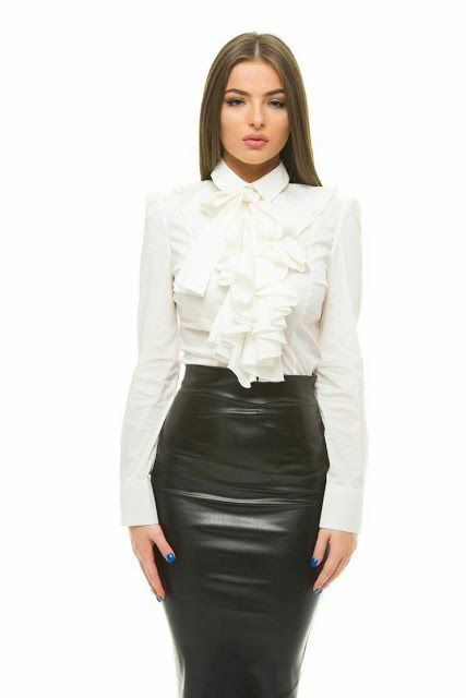 bfe13f426d Lovely Ladies in Leather: Miscellaneous Leather 71: Leather Pencil Skirts  (Part Seventeen)