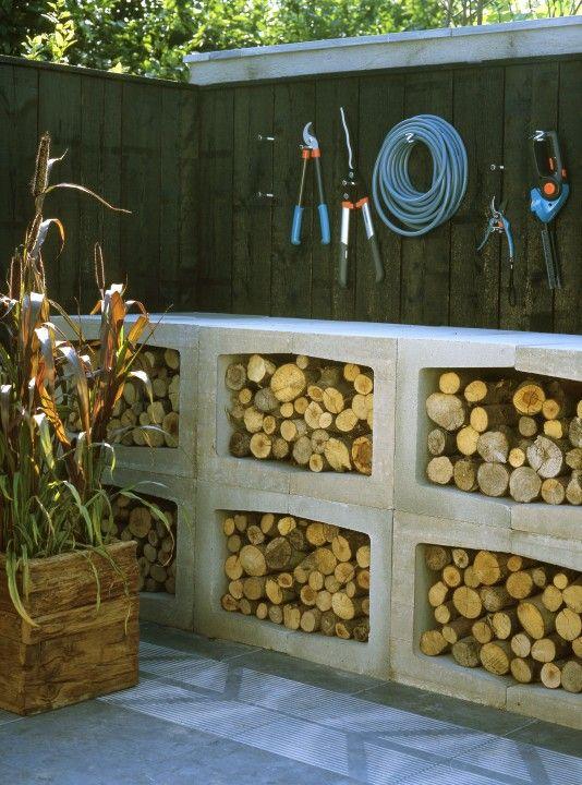 25 beste idee n over houtopslag op pinterest houten rek haardhout houder en haardhout rek - Ideeen buitentuin ...