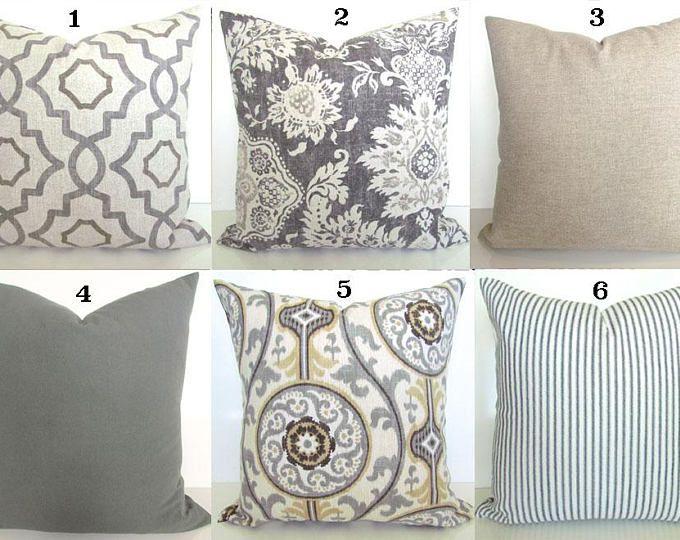 Tan Pillows Gray Pillow Covers Grey Pillows Grey Throw Pillow