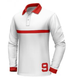 White polo shirt with red collar http://www.tailor4less.com/en-us/collections/custom-polo-shirts/long-sleeve-polo-shirts/white-polo-shirt-with-red-collar