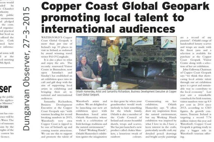 Dungarvan Observer, 27-3-2015 Copper Coast Geopark promoting local art