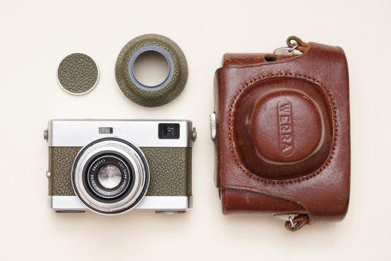 Werra 3 III Olive Rangefinder Vintage Film Camera with by ohsocult
