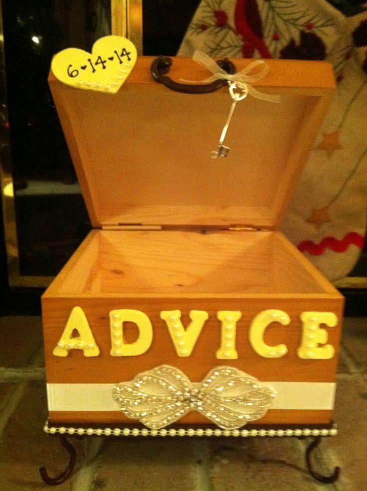 Wedding advice box!