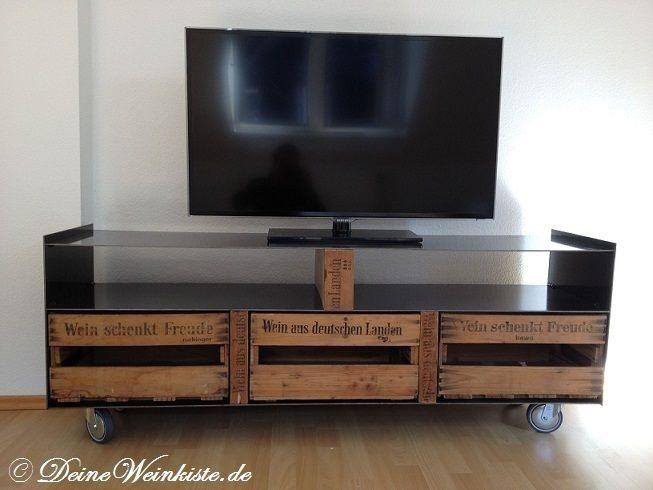 Luxus Tv Schrank Industrial Weinkisten Tv Schrank Obstkisten