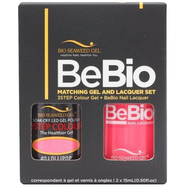 Bio Seaweed Gel Color + Matching Lacquer Lollipop #40