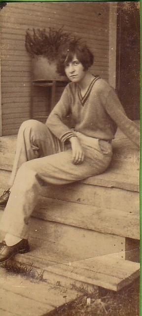Woman lounging in trousers c.1920s..Before her time..bold , confident and brave