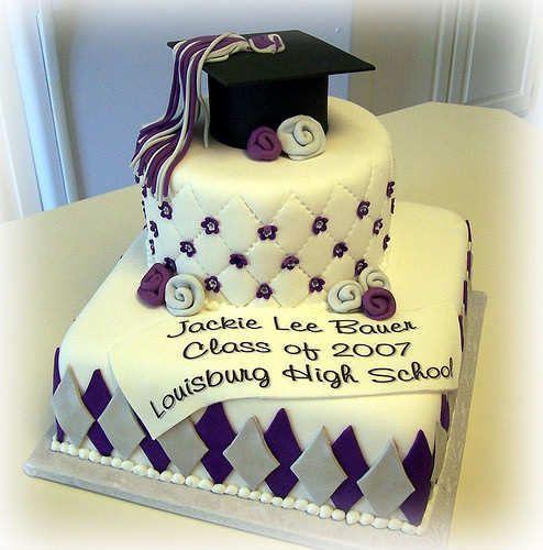 decoracion tortas para graduacion