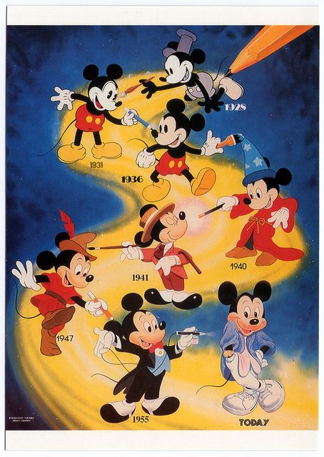 Mickey Mouse through the years .