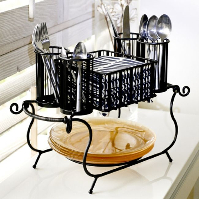 Pin Delaware Stackable Buffet Caddy with Antiqued Black Finish (plates not included)