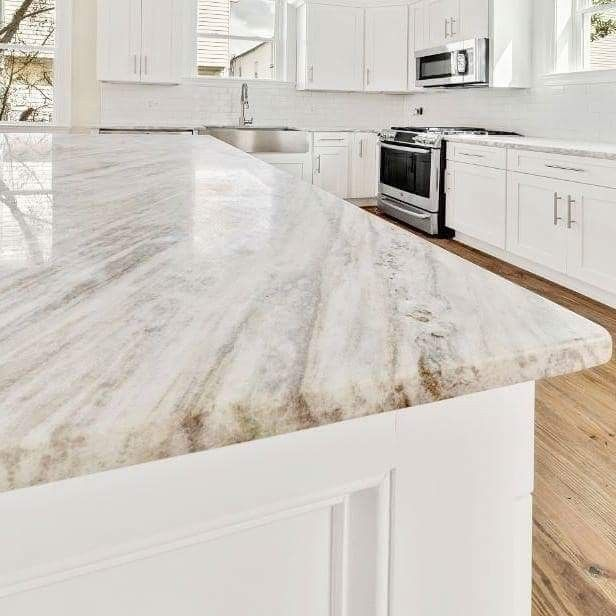 Fantasy Brown Stone From Triton Stone Brown Kitchen Tiles White Kitchen Design Granite Countertops Kitchen