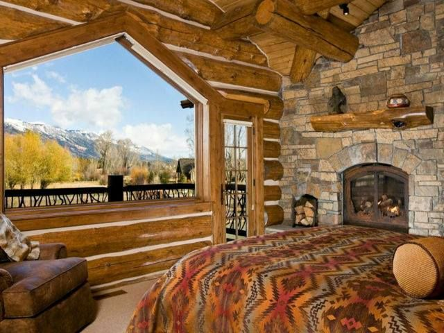 Love the view and fireplace