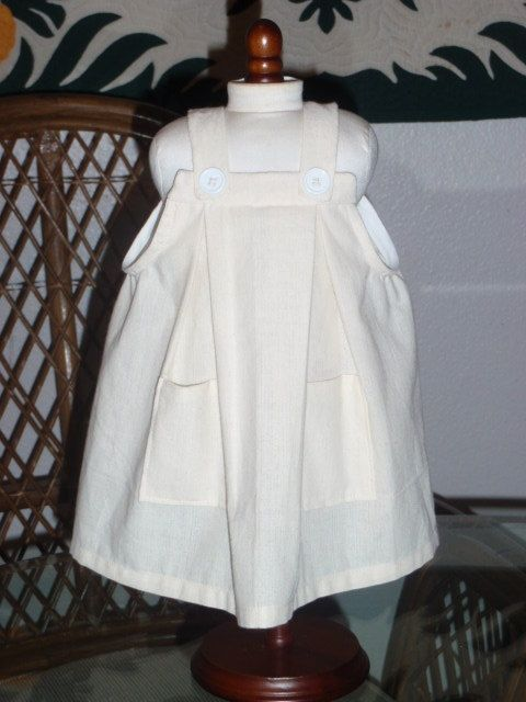 1870s Anne of Green Gables School Pinafore by alohagirldollclothes