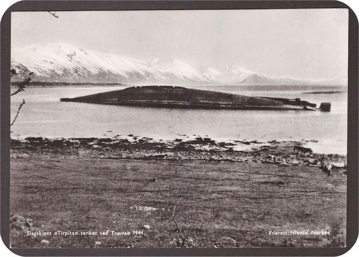 Tromsø. Slagskipet Tirpitz senket 1944. foto Nikolai Norbye.