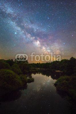 Milky Way over a small river© Malyshchyts Viktar