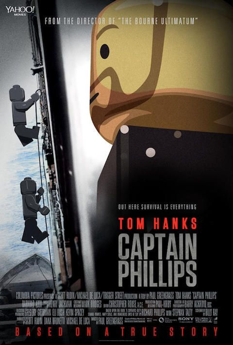 Captain Phillips - Carteles de películas nominadas al Oscar 2014 recreados con LEGO