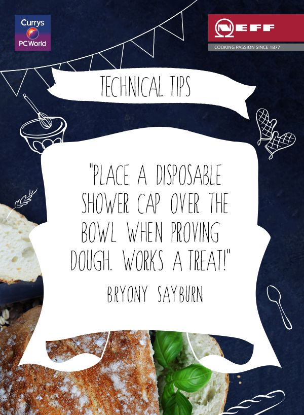 Serious dough proving hack. You've heard of putting on your thinking cap… but according to the brilliant Bryony Sayburn, proving dough is all about the shower cap! @biybyneff