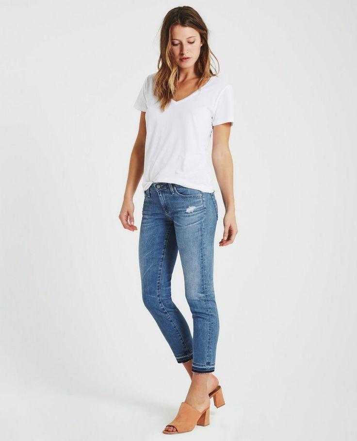 The Stilt Crop with letdown hem AG Jeans