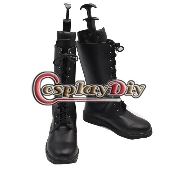 Adult Men's Shoes Boots Final Fantasy XIII Noctis Lucis Caelum Black Boots Shoes Cosplay Accessories Custom Made