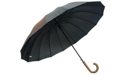 Dżentelmen o imieniu Karol Marka Kulik słynie ze swoich eleganckich parasoli dla mężczyzn, jednak model Karol to esencja klasycznego szyku mody męskiej. Duża czasza, charakterystyczna dla modeli typu golf, została podzielona na 16 części. Ów podział powoduje, że czarna elegancja czaszy parasola Karol nabiera nonszalancji. Standardowe parasole mają o połowę mniej klinów, więc 16-częściowa czasza zdecydowanie wyróżni się z tłumu.