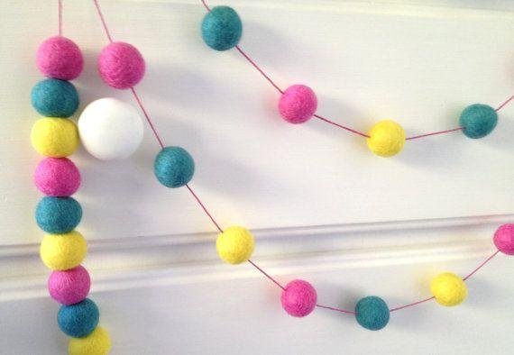 Felt Ball Garlands, Bunting, Pom Pom, Nursery & Children's Decor by Feltballgarlands