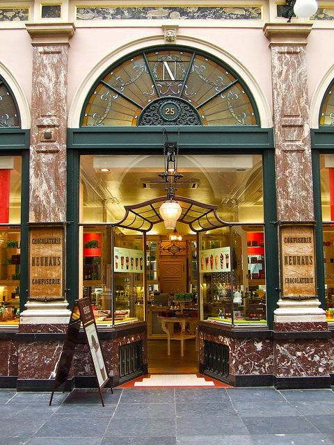 Neuhaus | Brussels, Belgium...best chocolate anywhere!!!  Bought my first box of Belgian chocolates at this shop!