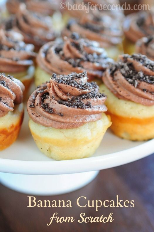 cupcakes with chocolate oreo frosting back for seconds banana cupcakes ...