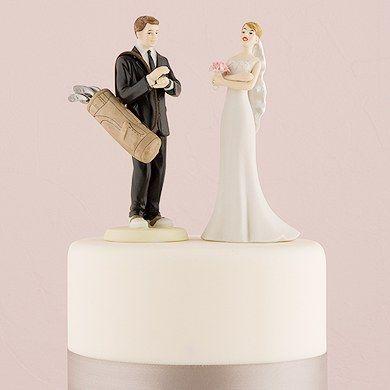 Golfing Groom Wedding Cake Topper