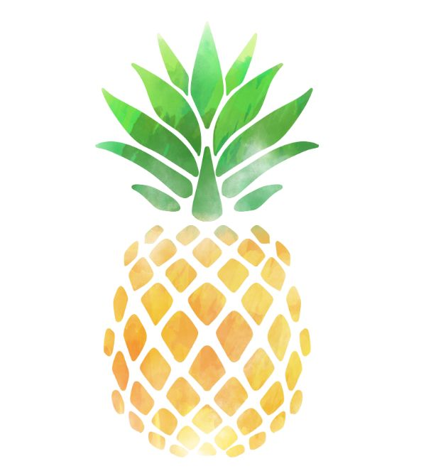 Golden Pineapple Sticker By Kittyworks Pineapple Illustration