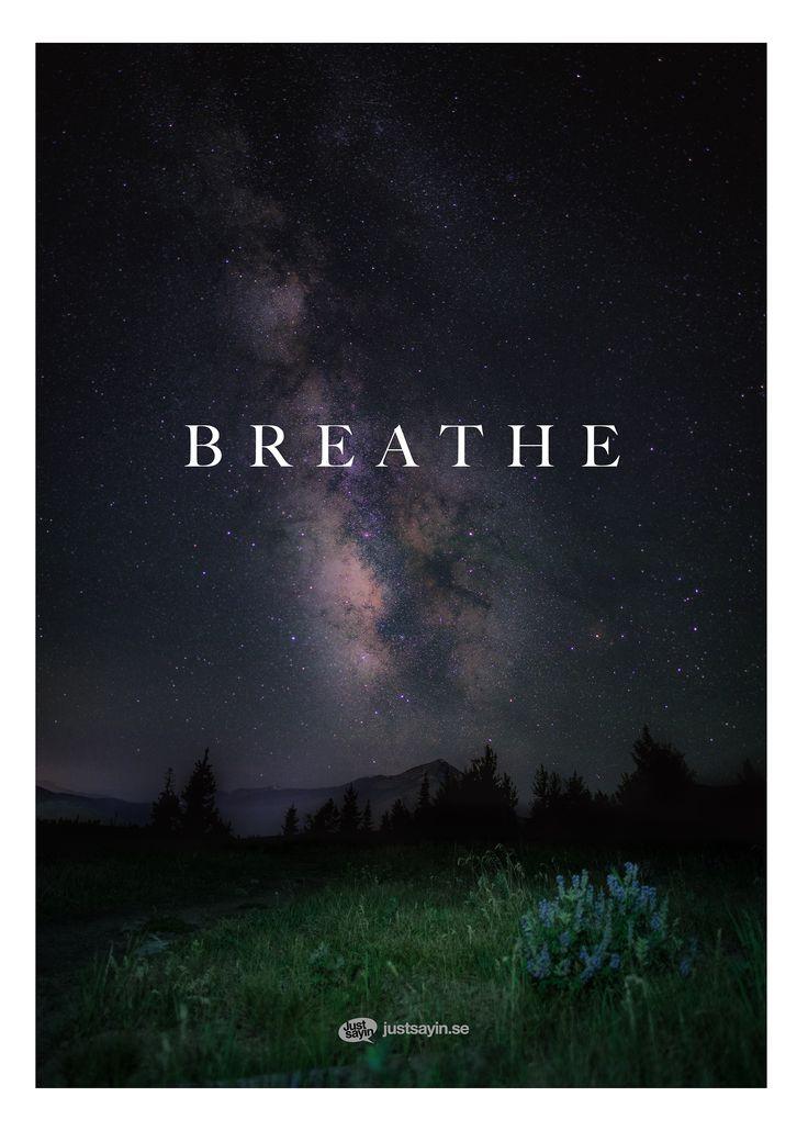 "Tavlor med text | Texttavlor | Posters med citat | Typografi affischer ""Breathe"" – Köp på www.justsayin.se"
