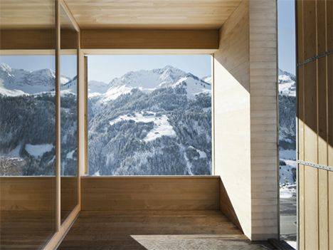 Bernardo Bader's Haus Fontanella - built from pine and spruce