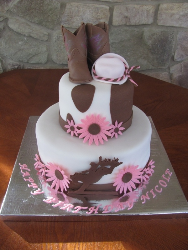 Love this one! cowgirl cake