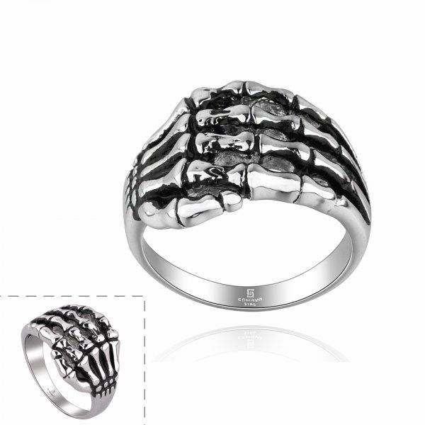 Vintage Style Skeleton Hands Shape Neutral Ring in Rings | DressLily.com  breeannE BArbie would love this