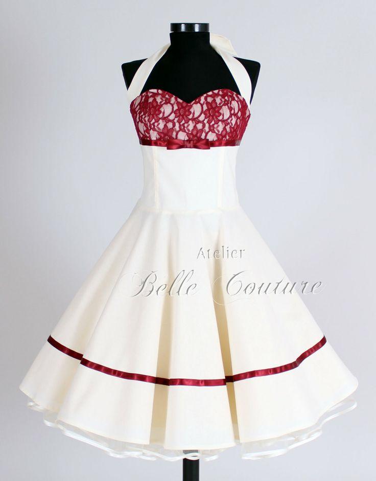 50s+wedding+dress+item+Marie+II+short+by+atelierbellecouture,+€150.00