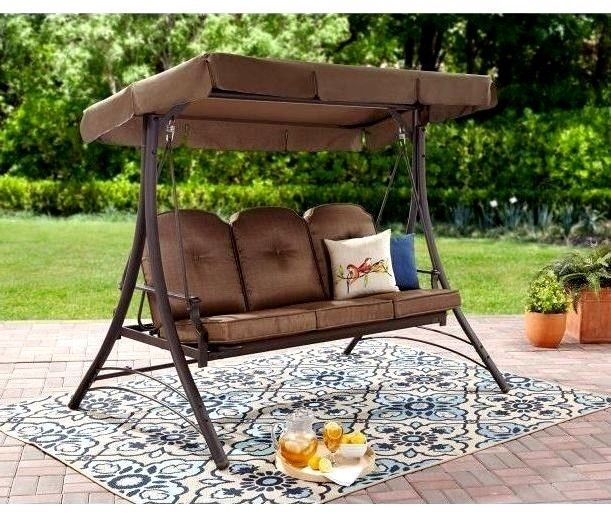 Backyard #Patio Swing With #Canopy 3 Person #Hammock #Chair #Outdoor Porch