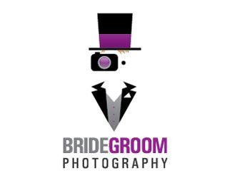 Bridegroom Photographylogo concept