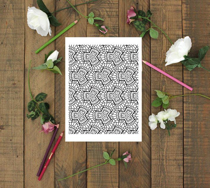 Coloring Page Instant Download - Advanced pattern colouring page PDF download by SeraphymArt on Etsy https://www.etsy.com/au/listing/493639044/coloring-page-instant-download-advanced